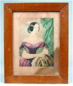 "N. Currier Lithograph Titled ""Adeline"" in Grain Pa"
