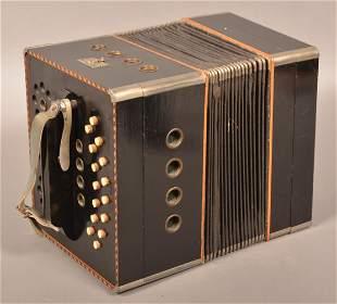 Antique German Self-Playing Tanzbar Roller Accordion.