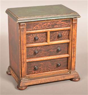 American Federal Painted Miniature Chest of Drawers.