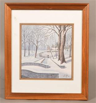 Al Taft Winter at Lititz Springs Park Print.