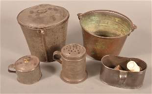 Antique Copper, Brass and Tin Utilitarian Wares.