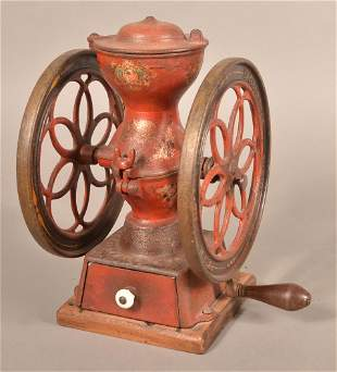 Enterprise Cast Iron Table Top Coffee Mill.