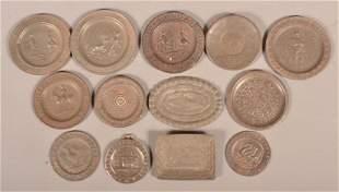 Lot of Antique Tin Miniature Children's Plates.