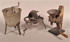 3 Pieces of Antique Metal Mechanical Utilitarian Items