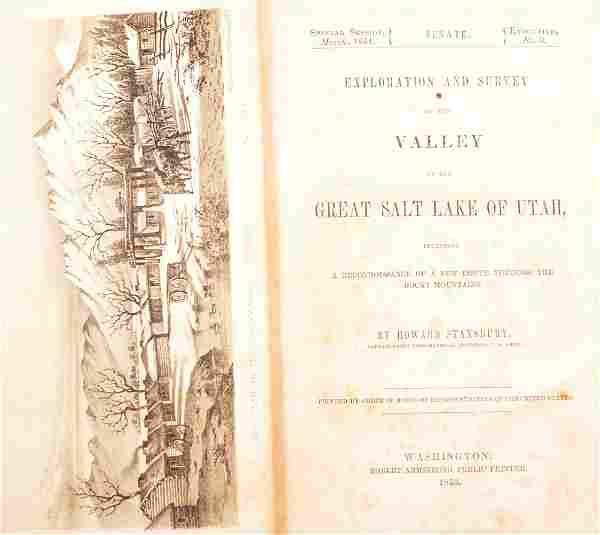 Stansbury's Exploration Great Salt Lake 1853