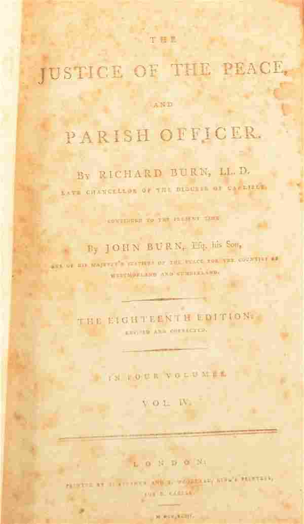 Book Belonging to Early PA Chief Justice