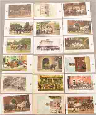 Early Postcards of Fire Companies + Lancaster cdv
