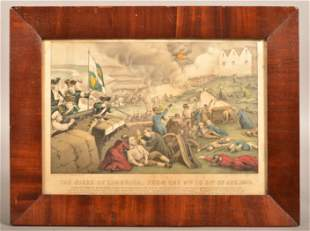 The Siege of Limerick Currier & Ives Color Lithograph.