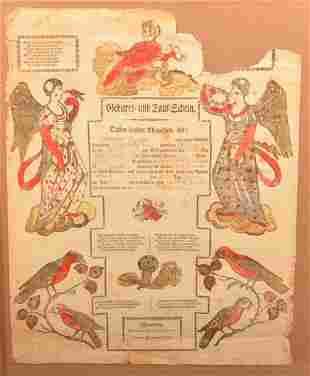 Pennsylvania Ein Brief and Taufschein.