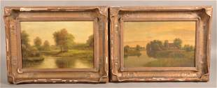 Two Fritz Steinhauer Oil on Canvas Landscape Paintings.