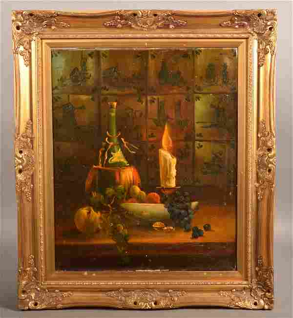 Selhorst Oil on Canvas Still Life Painting.