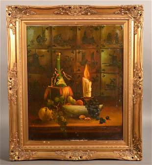 Selhorst Oil on Canvas Still Life Painting.