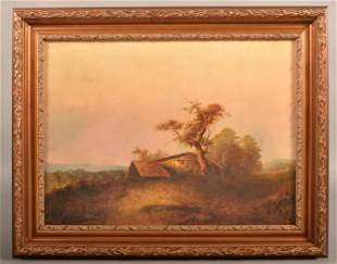 Frederick Spang Oil On Canvas Landscape Painting.