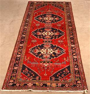 Antique/Vintage Shansavan Oriental Wool Area Rug.
