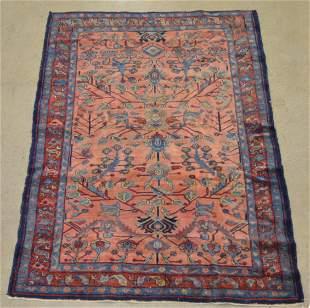 Antique/Vintage Oriental Floral Pattern Area Rug.