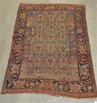 Antique Oriental Floral Pattern Area Rug.