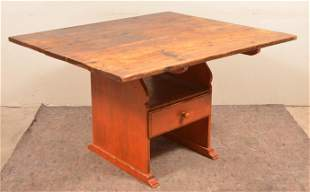American Early 19th Century Softwood Hutch Table.