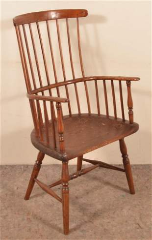 Late 18th/Early 19th Cent. Windsor Comb-Back Armchair