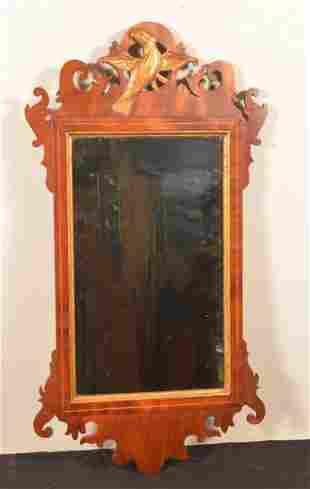 American Chippendale Mahogany Wall Mirror.