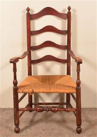 Delaware Valley 18th Century Ladder Back Armchair.