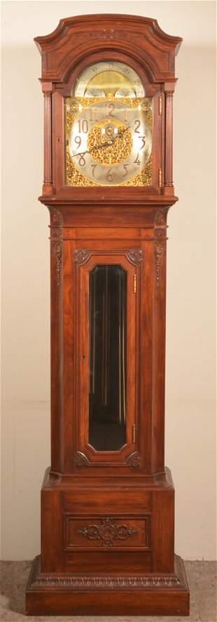 Tiffany & Co. Mahogany Tall Case Clock.
