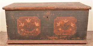 Late 18th Century Painted Blanket Chest.