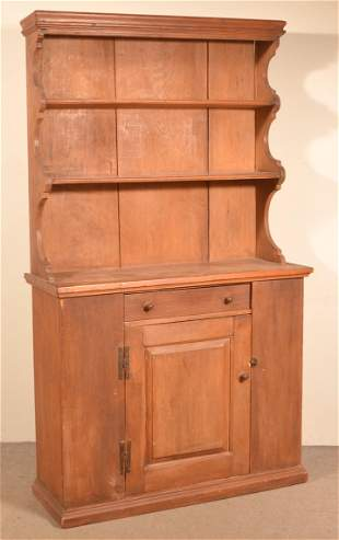 Softwood Period Style Pewter Cupboard.