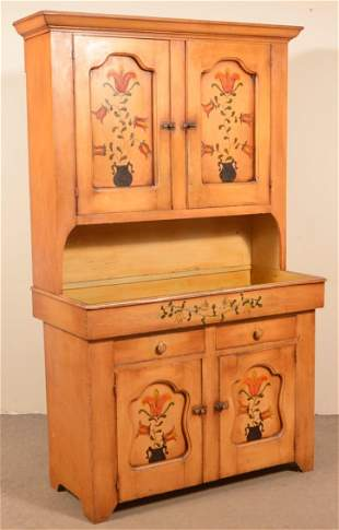 Antique Softwood Cupboard Top Drysink.