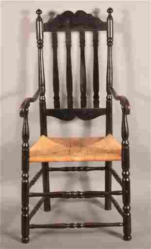 Antique American Banister Back Armchair.