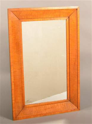American Federal Tiger Maple Molded Frame Mirror.