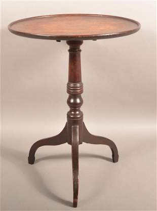 American Federal Walnut Tilt-Top Candlestand.
