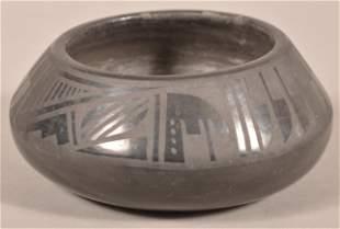 Santa Clara Pottery Bowl Signed Florence & Joe.
