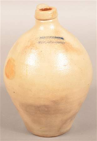 Julius Norton, Bennington, VT Ovoid Stoneware Jug.