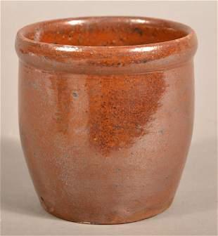 "Antique PA Redware Storage Jar Signed ""C. Moyer""."