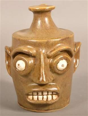 Southern Stoneware Grotesque Face Jug by Gary Dexter.