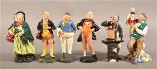 Six Royal Doulton Porcelain Figurines.