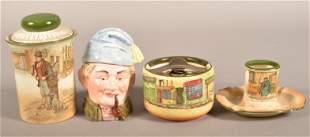 Royal Doulton and Majolica Smoking-Related Items.