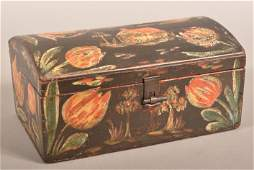Rare Bucher Paint-Decorated Dome Lid Trinket Box.