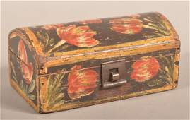Bucher Paint-Decorated Dome Lid Trinket Box.