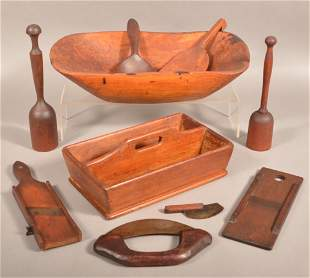 Group of Antique Wooden Kitchenware's.