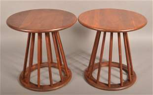Arthur Umanoff Mahogany Mid Century Side Tables.