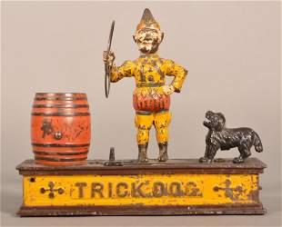 "Hubley Cast Iron ""Trick Dog"" Mechanical Bank."
