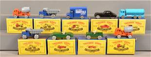 Nine Matchbox Moko Lesney Vehicles, Mint in Box.