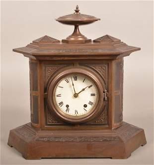 Seth Thomas Victorian Cast Iron Case Shelf Clock.