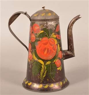 Pennsylvania 19th Century Toleware Coffee Pot.