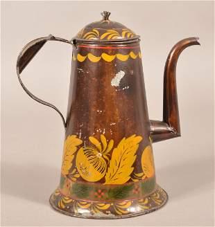 Pennsylvania Antique/Vintage Toleware Coffee Pot.