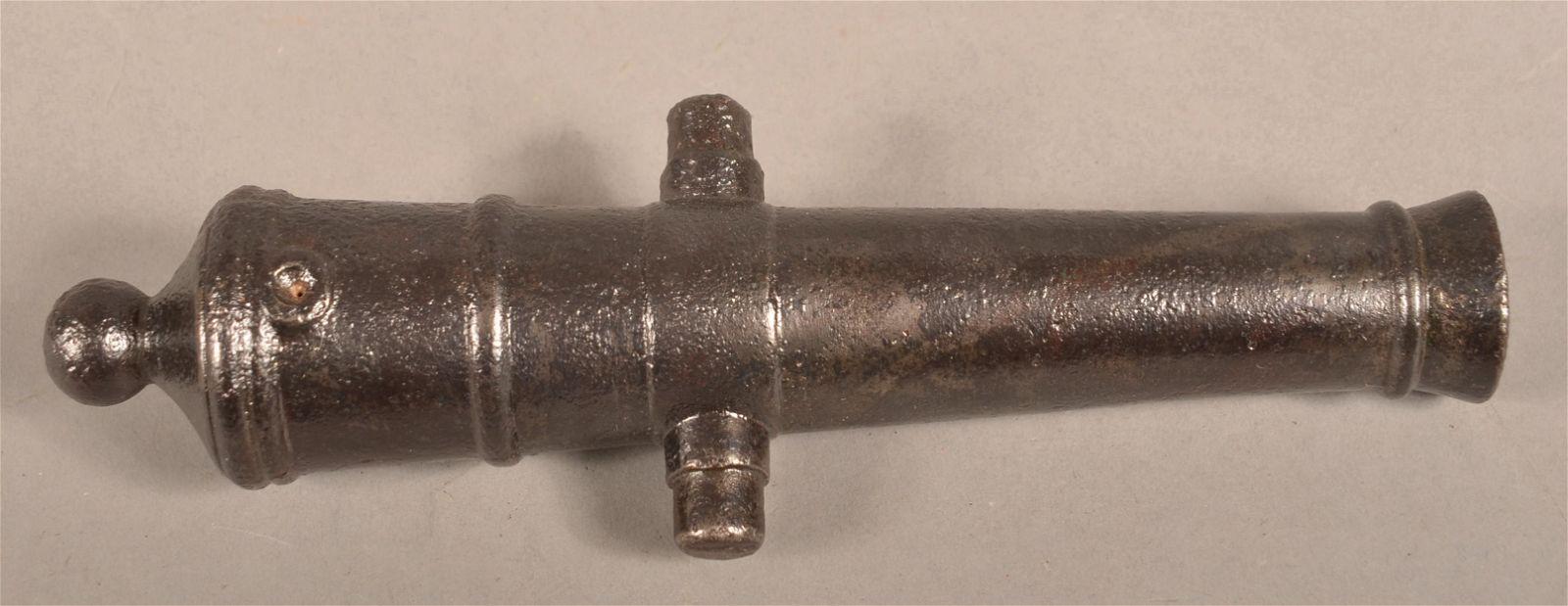 Antique Muzzle Loading Cast Iron Signal Cannon.