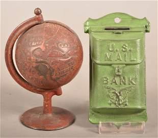 Two Antique/Vintage Cast Iron Still Banks.