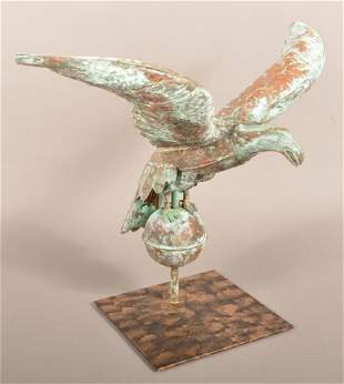 Copper Dimensional Spread-Wing Eagle Weathervane.