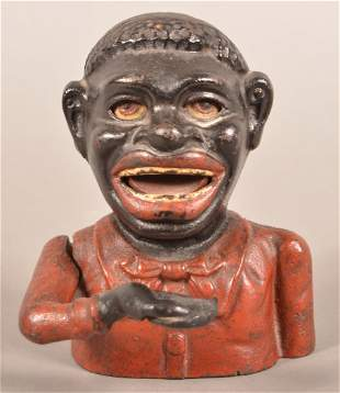Jolly Negro Cast Iron Mechanical Bank.